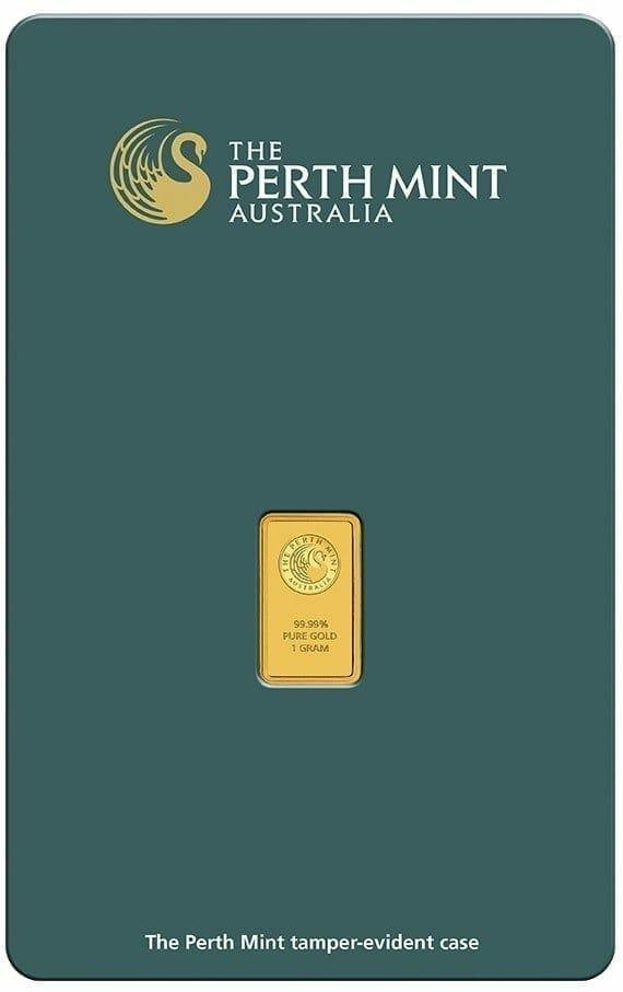 Perth Mint Kangaroo 1g .9999 Gold Minted Bullion Bar - Green Security Card 2