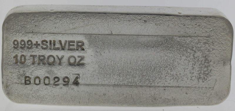 Engelhard 10oz .999 Silver Cast Bullion Bar - Engelhard Australia 2