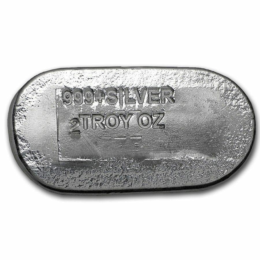 Engelhard 2oz .999 Silver Cast Bullion Bar - Engelhard Australia 2