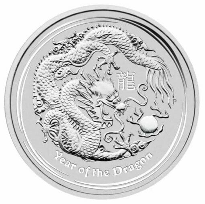 2012 Year of the Dragon 10oz .999 Silver Bullion Coin – Lunar Series II 1