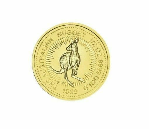 1999 The Australian Nugget Series 1/2oz .9999 Gold Bullion Coin - The Perth Mint 1