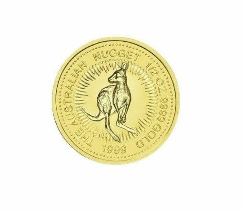 1999 The Australian Nugget Series 1/2oz .9999 Gold Bullion Coin - The Perth Mint 1