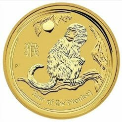 2016 Year of the Monkey 1/10oz .9999 Gold Bullion Coin - Lunar Series II - The Perth Mint 4
