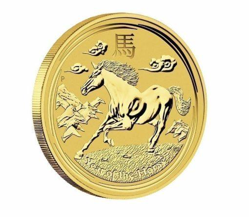 2014 Year of the Horse 1/10oz .9999 Gold Bullion Coin - Lunar Series - The Perth Mint 1