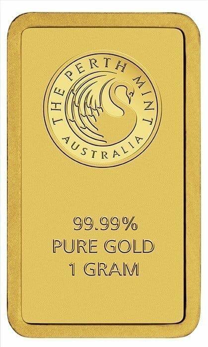 Perth Mint Kangaroo 1g .9999 Gold Minted Bullion Bar 3