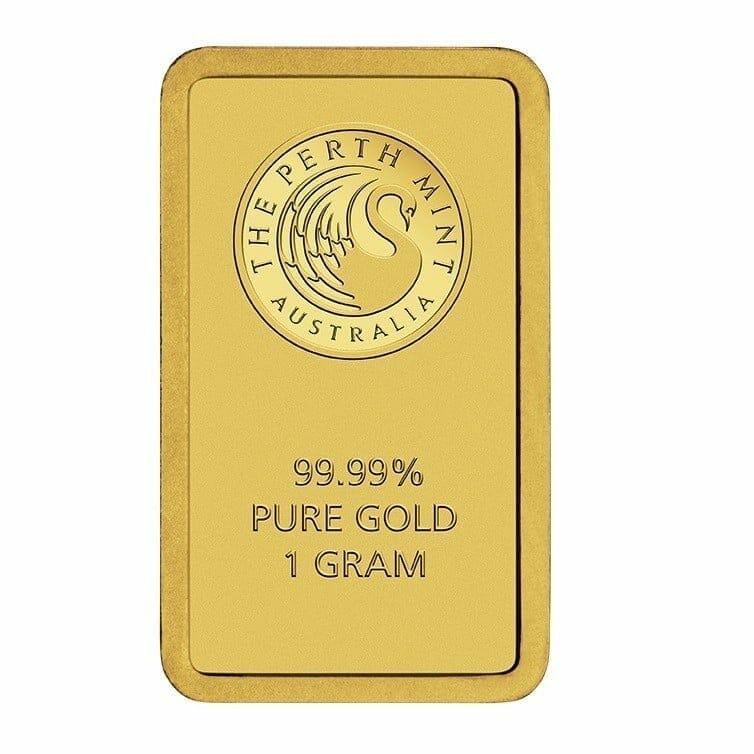 Perth Mint Kangaroo 1g .9999 Gold Minted Bullion Bar - Green Security Card 1