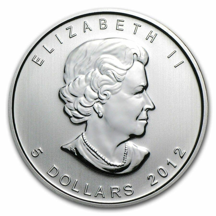 2012 Maple Leaf 1oz .9999 Silver Bullion Coin – Royal Canadian Mint 3