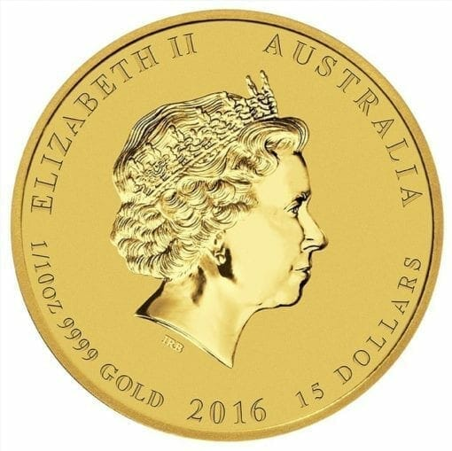 2016 Year of the Monkey 1/10oz .9999 Gold Bullion Coin - Lunar Series II - The Perth Mint 3