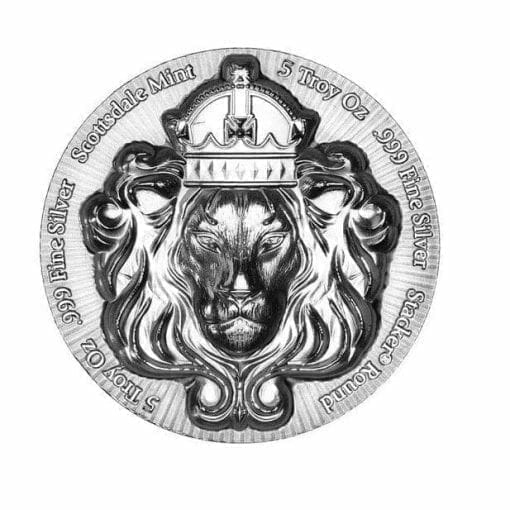 Scottsdale Silver 5oz .999 Silver Bullion Stacker Round Coin 3