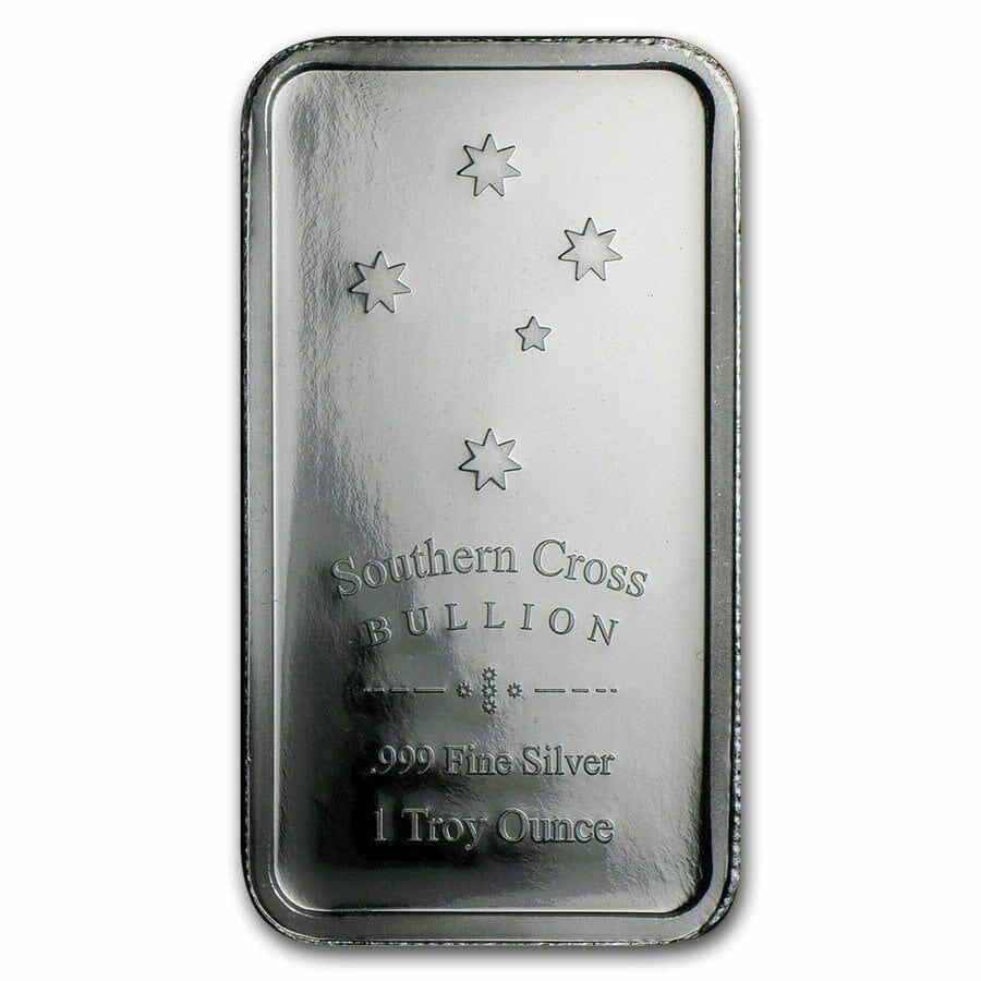 Eureka 1oz .999 Silver Minted Bullion Bar - Southern Cross Bullion 1