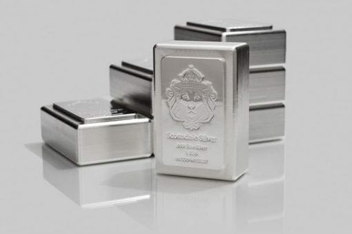Scottsdale Silver 1kg .999 Silver Cast Bullion Stacker Bar 2