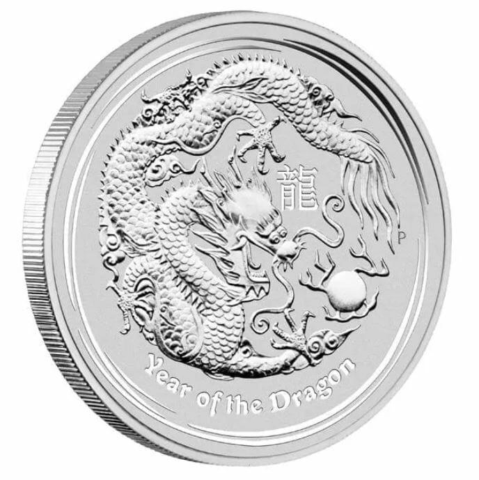 2012 Year of the Dragon 10oz .999 Silver Bullion Coin – Lunar Series II 2