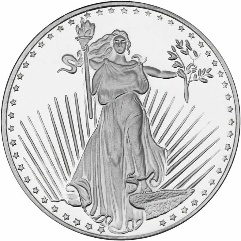 Augustus Saint-Gaudens 1oz .999 Silver Bullion Coin - Silver Towne 1