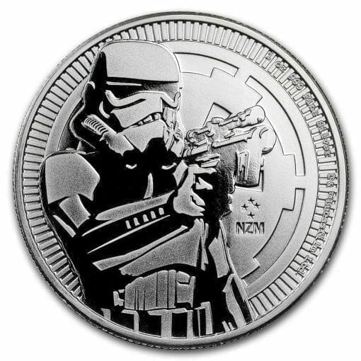 2018 Star Wars Stormtrooper 1oz .999 Silver Bullion Coin - New Zealand Mint 1