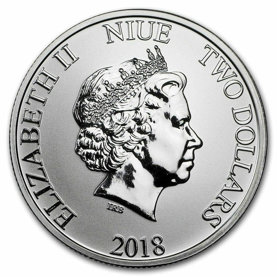 2018 Star Wars Stormtrooper 1oz .999 Silver Bullion Coin - New Zealand Mint 2