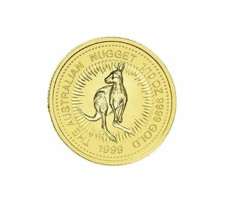 1999 The Australian Nugget Series 1/10oz .9999 Gold Bullion Coin 1