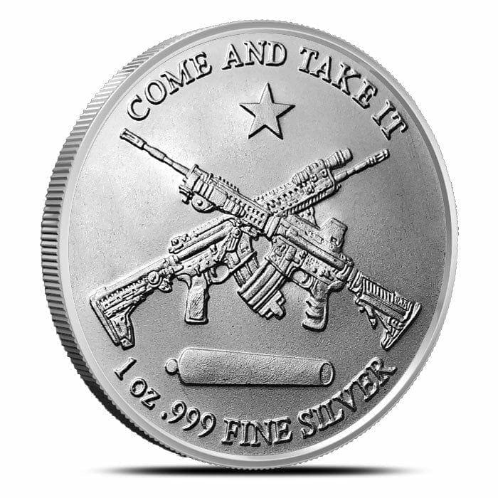Come and Take It 1oz .999 Silver Bullion Coin – Molon Labe 1