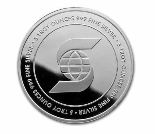 5oz .999 Silver Bullion Coin - Scotiabank 1