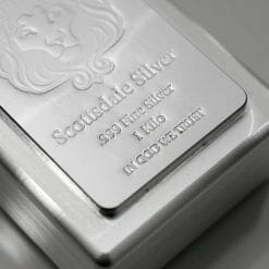 Scottsdale Silver 1kg .999 Silver Cast Bullion Stacker Bar 6