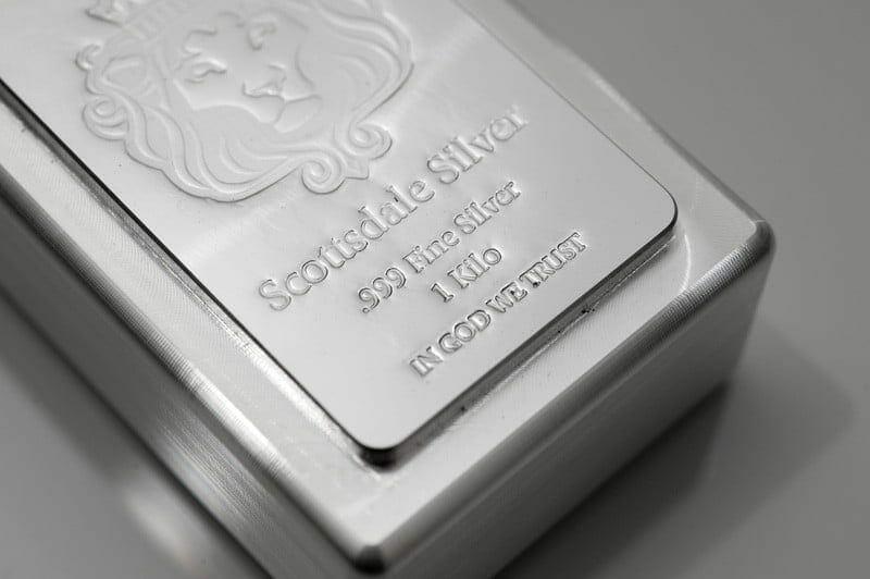Scottsdale Silver 1kg .999 Silver Cast Bullion Stacker Bar 3