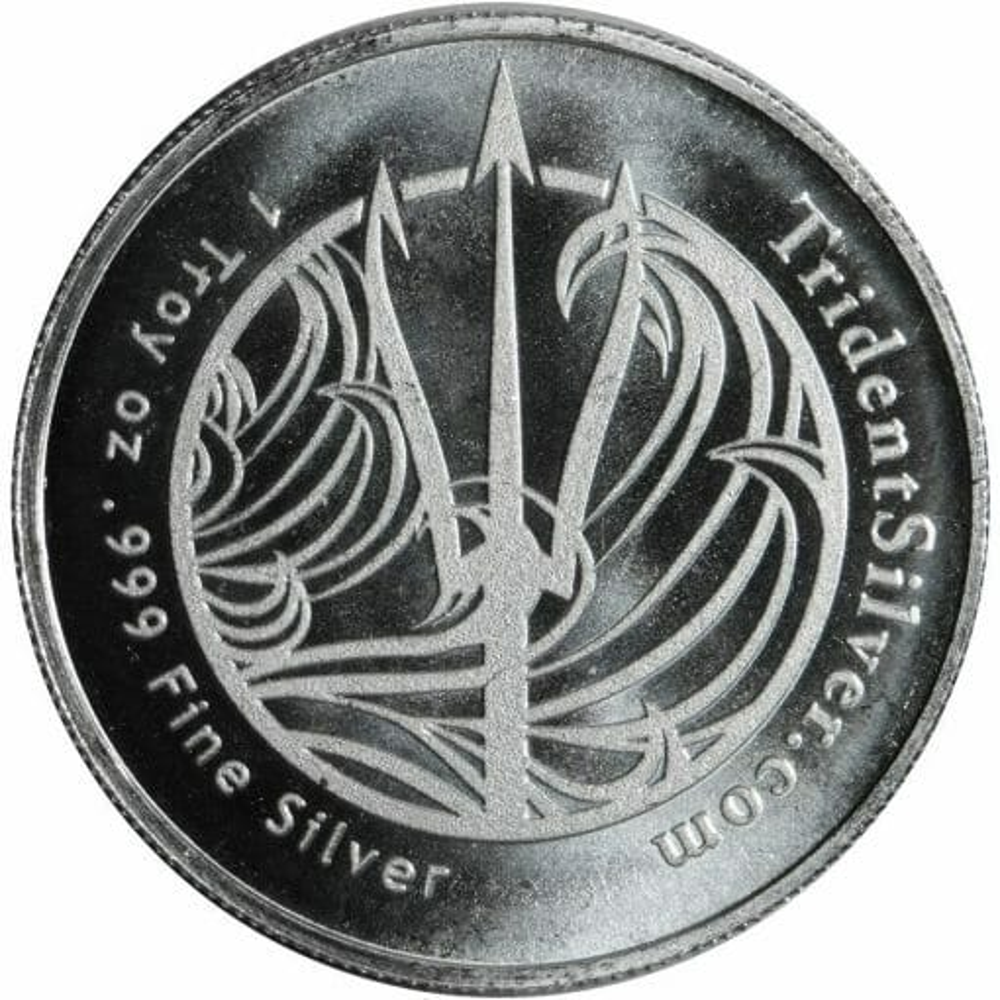 Neptune/Poseidon 1oz .999 Silver Bullion Coin - TridentSilver.com 2