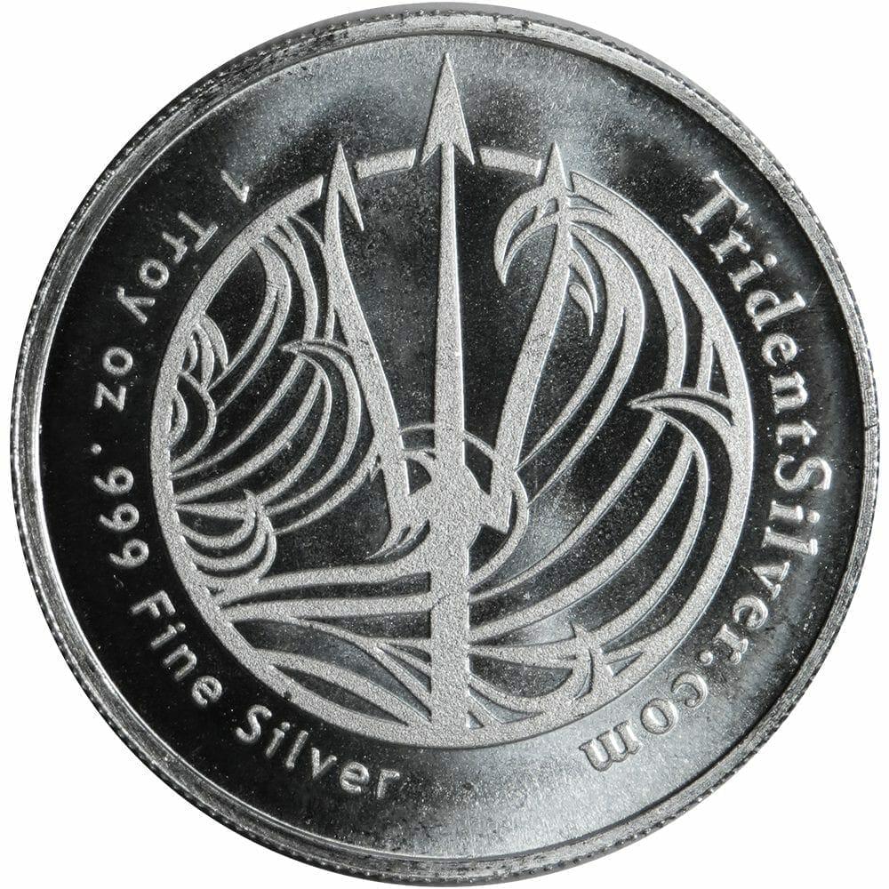 Neptune/Poseidon 1oz .999 Silver Bullion Coin - TridentSilver.com 3
