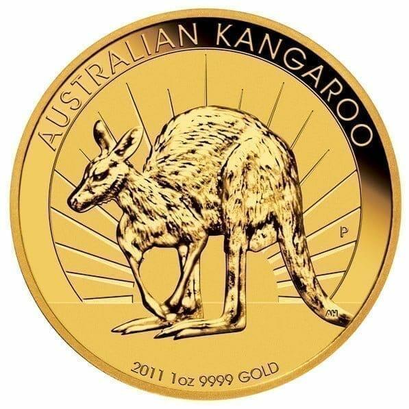 2011 Australian Kangaroo 1oz .9999 Gold Bullion Coin 1