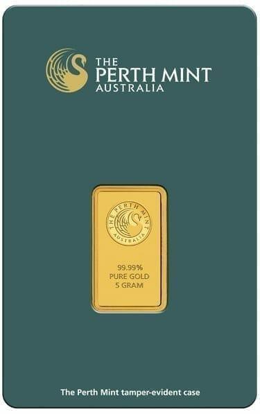 Perth Mint Kangaroo 5g .9999 Gold Minted Bullion Bar - Green Security Card 2