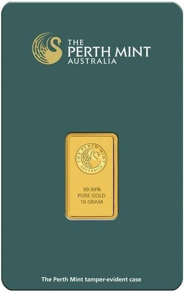 Perth Mint Kangaroo 10g .9999 Gold Minted Bullion Bar - Green Security Card 2
