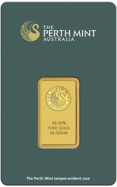 Perth Mint Kangaroo 20g .9999 Gold Minted Bullion Bar - Green Security Card 2