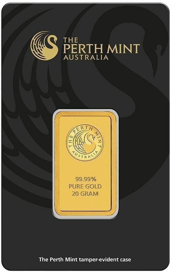 Perth Mint Kangaroo 20g .9999 Gold Minted Bullion Bar 2