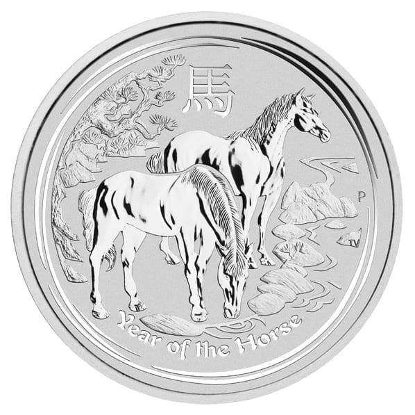 2014 Year Of The Horse 2oz .999 Silver Bullion Coin - Lunar Series II 1
