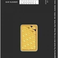Perth Mint Kangaroo 5g .9999 Gold Minted Bullion Bar 5
