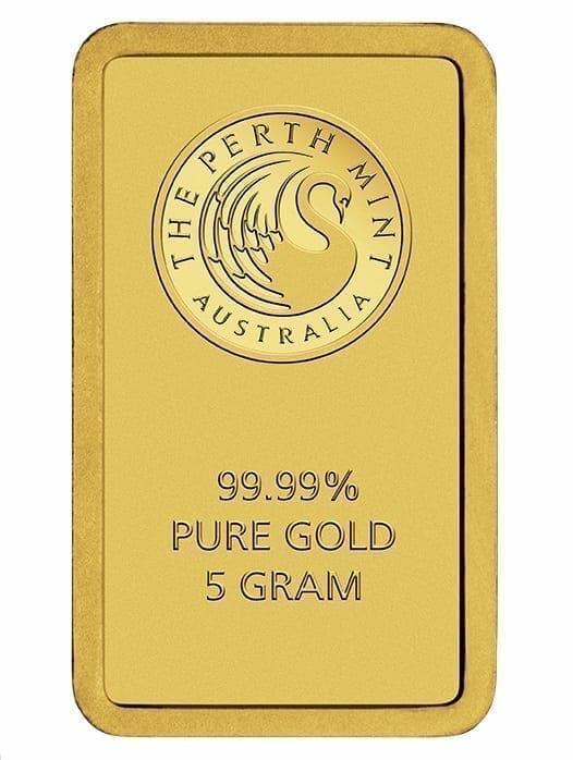 Perth Mint Kangaroo 5g .9999 Gold Minted Bullion Bar 3