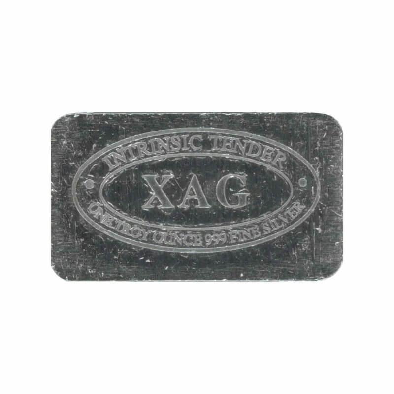 XAG 1oz .999 Silver Bullion Bar – XAG Intrinsic Tender 1