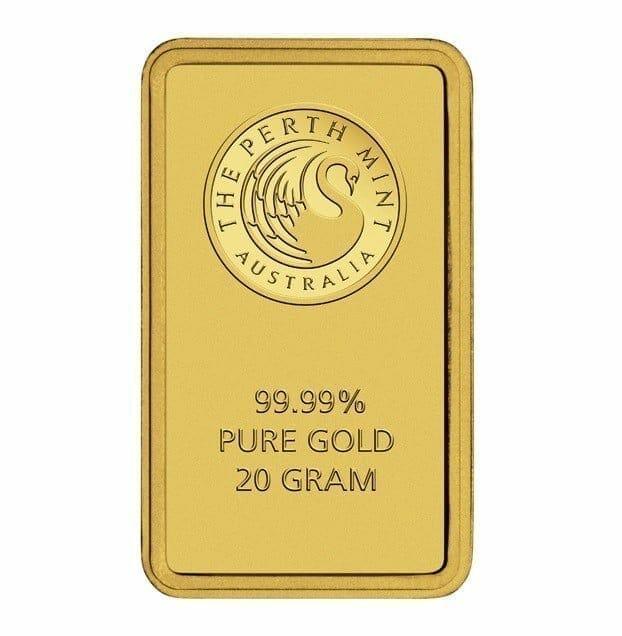 Perth Mint Kangaroo 20g .9999 Gold Minted Bullion Bar - Green Security Card 1