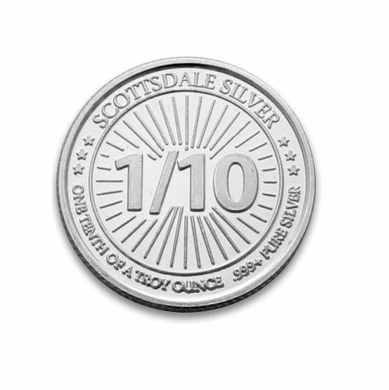Scottsdale Silver 1/10oz .999 Silver Bullion Coin 1