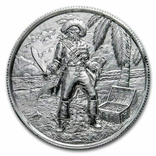 Privateer Series - The Captain 2oz .999 Ultra High Relief Silver Bullion Coin - Elemetal Mint 1