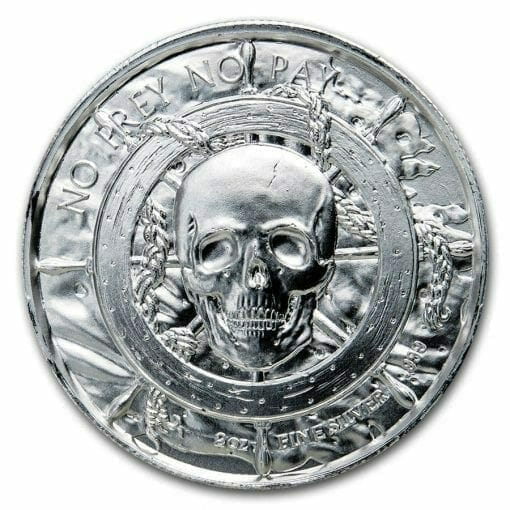 Privateer Series - The Captain 2oz .999 Ultra High Relief Silver Bullion Coin - Elemetal Mint 2