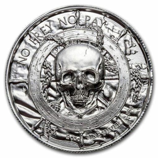 Privateer Series - The Kraken 2oz .999 Ultra High Relief Silver Bullion Coin - Elemetal Mint 3