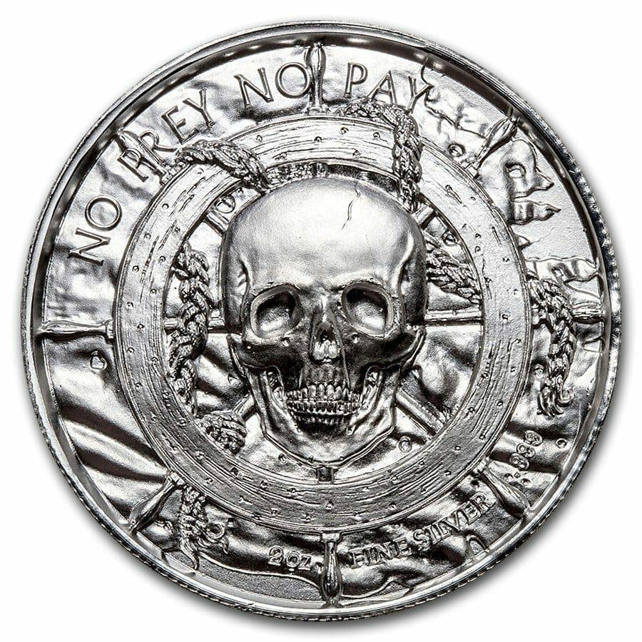 Privateer Series - The Kraken 2oz .999 Ultra High Relief Silver Bullion Coin - Elemetal Mint 5