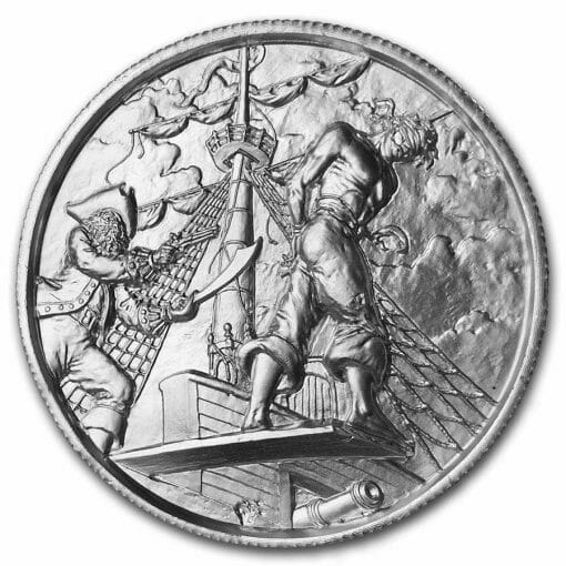 Privateer Series - The Plank 2oz .999 Ultra High Relief Silver Bullion Coin - Elemetal Mint 1