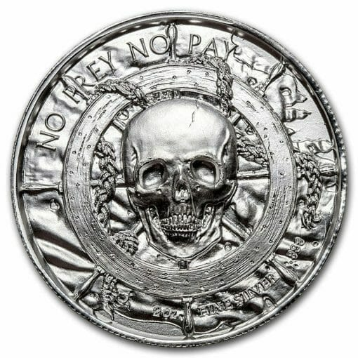 Privateer Series - The Plank 2oz .999 Ultra High Relief Silver Bullion Coin - Elemetal Mint 2