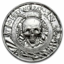 Privateer Series - The Plank 2oz .999 Ultra High Relief Silver Bullion Coin - Elemetal Mint 3