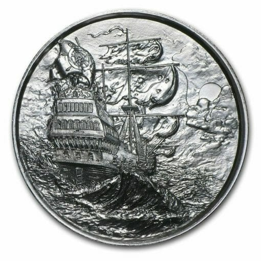 Privateer Series - The Privateer 2oz .999 Ultra High Relief Silver Bullion Coin - Elemetal Mint 1