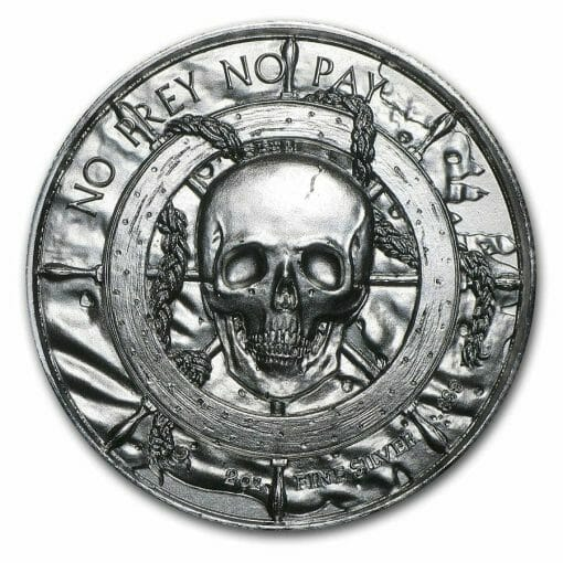 Privateer Series - The Privateer 2oz .999 Ultra High Relief Silver Bullion Coin - Elemetal Mint 3