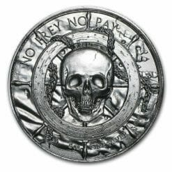 Privateer Series - The Privateer 2oz .999 Ultra High Relief Silver Bullion Coin - Elemetal Mint 5