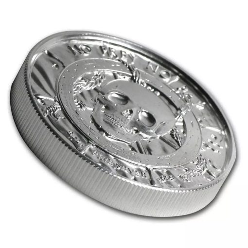 Privateer Series - The Privateer 2oz .999 Ultra High Relief Silver Bullion Coin - Elemetal Mint 2