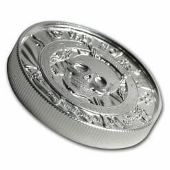 Privateer Series - The Privateer 2oz .999 Ultra High Relief Silver Bullion Coin - Elemetal Mint 4