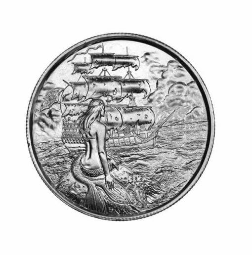 Privateer Series - The Siren 2oz .999 Ultra High Relief Silver Bullion Coin - Elemetal Mint 1
